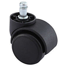 Lorell Dual Soft Wheel Casters With