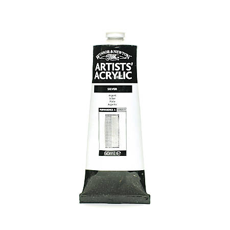 Winsor & Newton Professional Acrylic Colors, 60 mL, Silver, 617, Pack Of 2