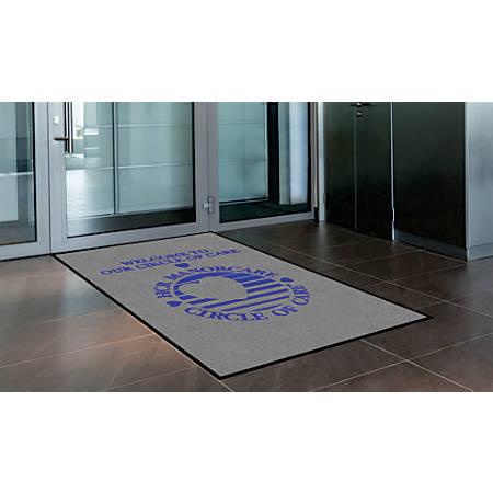"""Indoor Logo Nylon Floor Mat, Portrait, 4"""" x 6"""""""