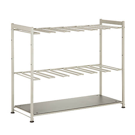 """Honey-Can-Do 6-Pair Boot Rack, 22 1/2""""H x 27 1/2""""W x 10 3/4""""D, Silver"""