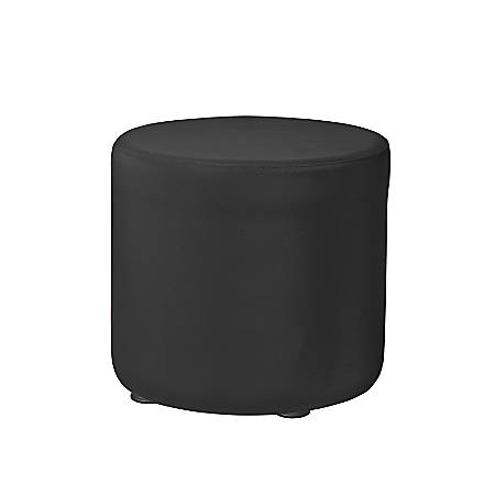 "Marco Round Seating Ottoman, 16""H, Black"