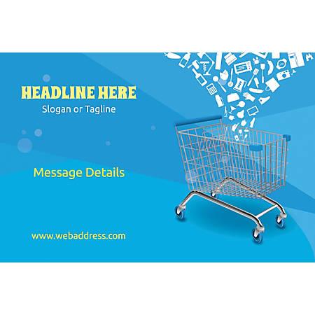 Adhesive Sign, Shopping Carts, Horizontal