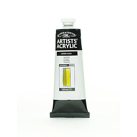 Winsor & Newton Professional Acrylic Colors, 60 mL, Green Gold, 294