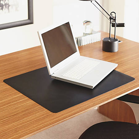 "Lorell Desktex Anti-Static Desk Pad - Rectangle - 24"" Width x 19"" Depth - Black"