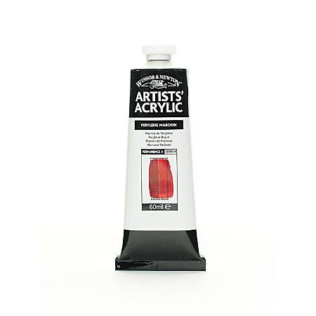 Winsor & Newton Professional Acrylic Colors, 60 mL, Perylene Maroon, 507