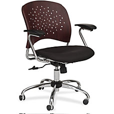 Safco Reve Task Chair Black Mahogany