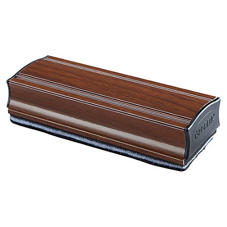 Lorell Magnetic Eraser - Magnetic - Mahogany - Aluminum - 1Each