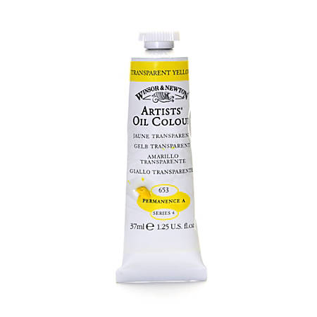 Winsor & Newton Artists' Oil Colors, 37 mL, Transparent Yellow, 653