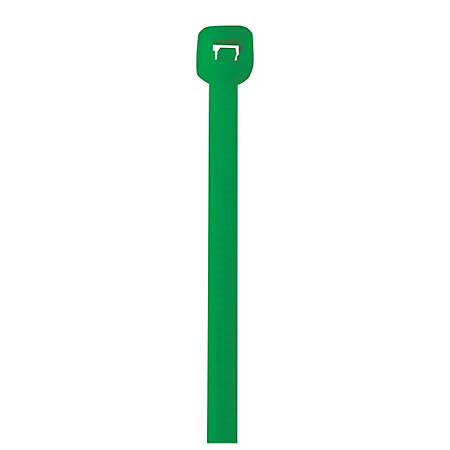 "Office Depot® Brand Cable Ties, 50 Lb, 18"", Green, Pack Of 500"