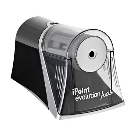 "Acme United iPoint Evolution Axis Single Hole Sharpener - Desktop - 1 Hole(s) - Helical - 4.5"" Height x 7"" Width x 4.3"" Depth - Silver"