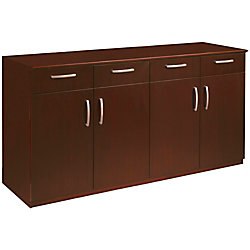 Mayline Group Buffet Credenza Sierra Cherry