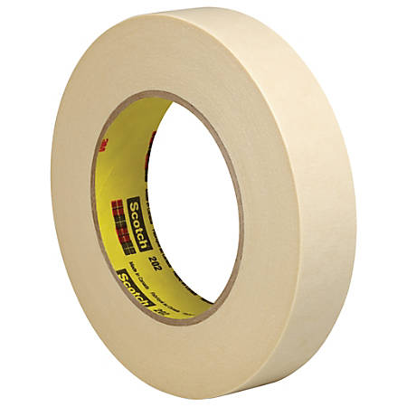 """3M™ 202 Masking Tape, 3"""" Core, 1"""" x 180', Natural, Pack Of 36"""