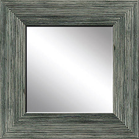 "PTM Images Framed Mirror, Wood, 20""H x 20""W, Stone Gray"