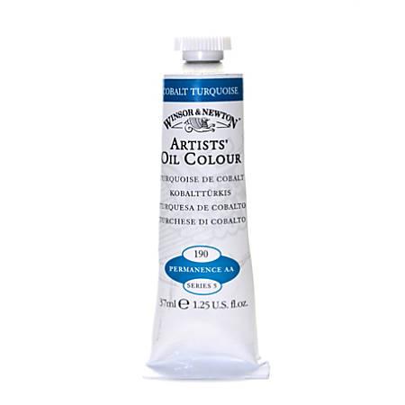 Winsor & Newton Artists' Oil Colors, 37 mL, Cobalt Turquoise, 190