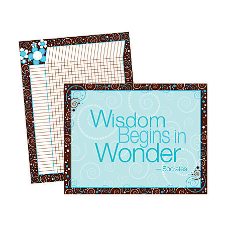 "Barker Creek® Chart Set, Wisdom Wonder, 17"" x 22"", Grades Pre-K+, Pack Of 2"