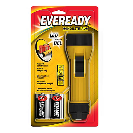 Eveready Industrial 2D LED Flashlight, Yellow