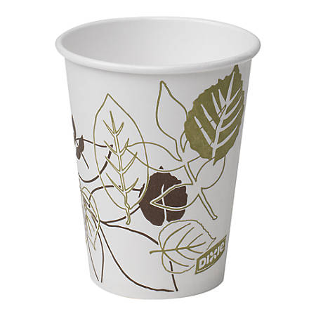 Dixie® Paper Hot Cups, 8 Oz, White, Pack Of 50 Cups