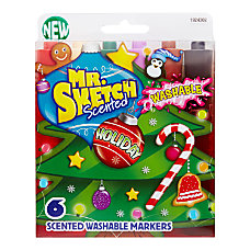 Mr Sketch Holiday Scented Washable Markers