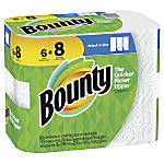 """Bounty Select-A-Size 2-Ply Paper Towels, 11"""" x 5-15/16"""", White, Pack Of 6 Big Rolls"""