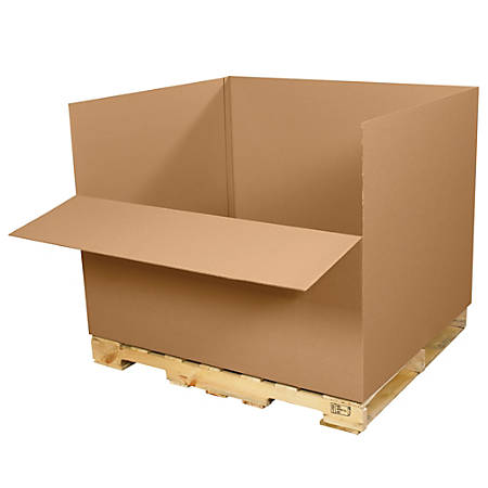 """Office Depot® Brand Easy-Load Cargo Containers, 48""""L x 40""""W x 36""""D, Kraft, Pack Of 5"""