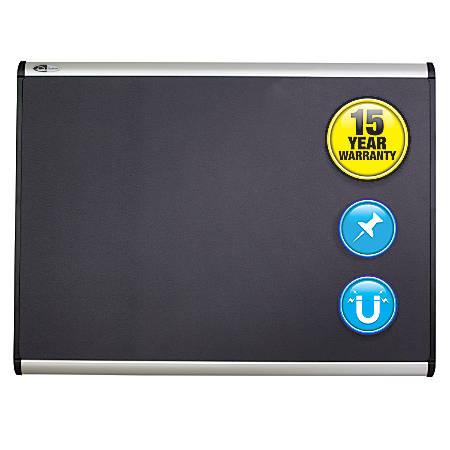 "Quartet® Prestige Plus® Magnetic Fabric Bulletin Board, Aluminum Frame, 72"" x 48"""