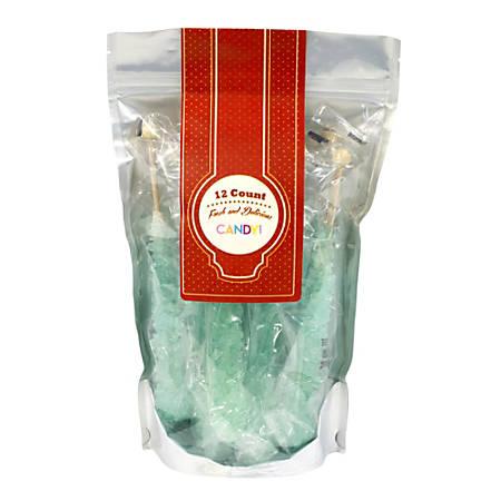 Espeez Rock Candy Sticks, Light Blue Cotton Candy, Bag Of 12