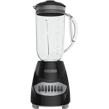 Black & Decker 10-Speed Blender - 450 W - 1.25 quart - 10 Speed Setting(s) - 5 Cup - 120 V AC - Stainless Steel, Plastic - Black