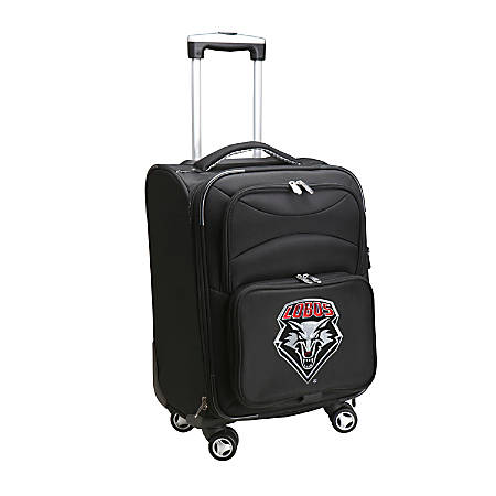 """Denco Sports Luggage Expandable Upright Rolling Carry-On Case, 21"""" x 13 1/4"""" x 12"""", Black, New Mexico Lobos"""