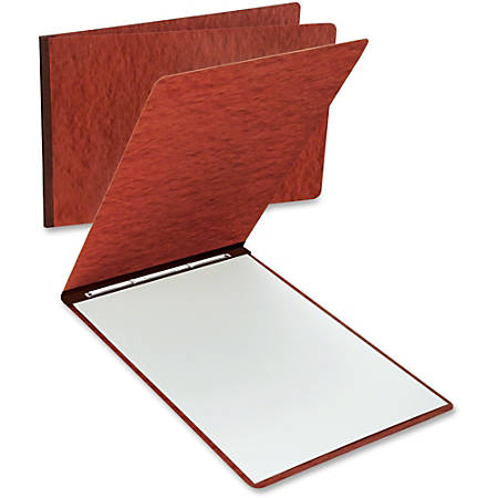 """Oxford Oversized Pressboard Report Cover - Tabloid, Letter - 11"""" x 17"""", 8 1/2"""" x 11"""" Sheet Size - 2 x Prong Fastener(s) - 3"""" Fastener Capacity for Folder - Pressboard - Red - Recycled - 1 Each"""