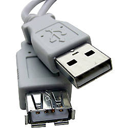 Professional Cable Gray USB Extension Fully