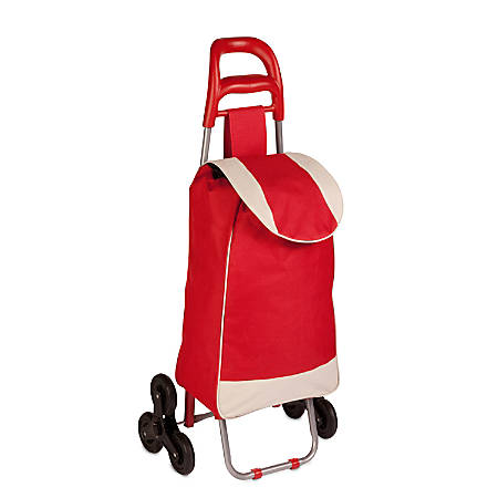 Honey-Can-Do Large Rolling Knapsack Cart, Red