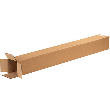"Office Depot® Brand Tall Corrugated Boxes, 50""H x 5""W x 5""D, Kraft, Bundle Of 25"