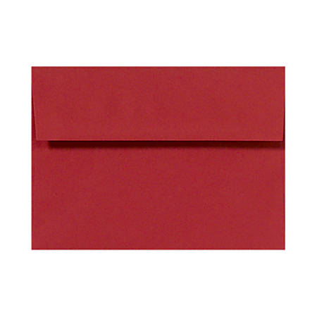 """LUX Invitation Envelopes With Peel & Press Closure, A6, 4 3/4"""" x 6 1/2"""", Ruby Red, Pack Of 250"""