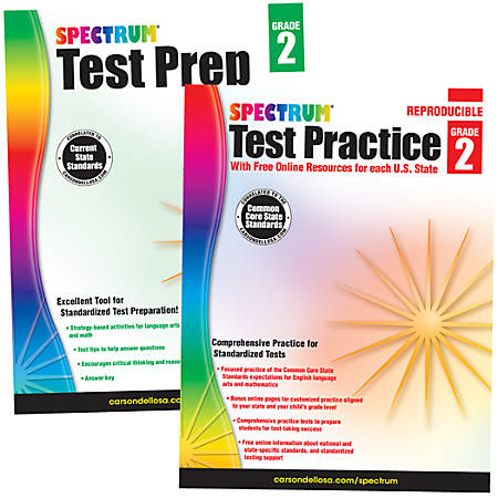 Spectrum® Test Prep And Practice Classroom Kit, Grade 2
