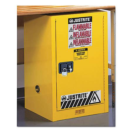 Yellow Countertop & Compact Cabinets, Self-Closing Cabinet, 12 Gallon
