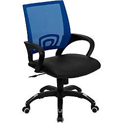 Flash Furniture MeshLeather Mid Back Swivel
