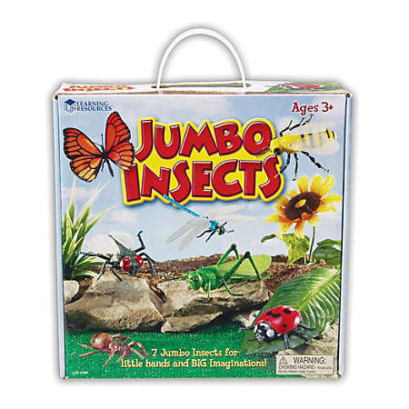 Learning Resources Jumbo Figures, Insects, Pack Of 7