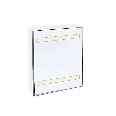 """Azar Displays Acrylic Sign Holders With Adhesive Tape, 8 1/2"""" x 5 1/2"""", Clear, Pack Of 10"""
