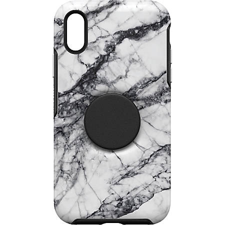 OtterBox Otter + Pop Symmetry iPhone XR Case - For Apple iPhone XR Smartphone - White Marble
