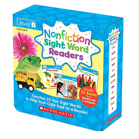 Scholastic Teacher Resources Nonfiction Sight Word Readers Parent Pack, Level B, Pre-K To 1st Grade