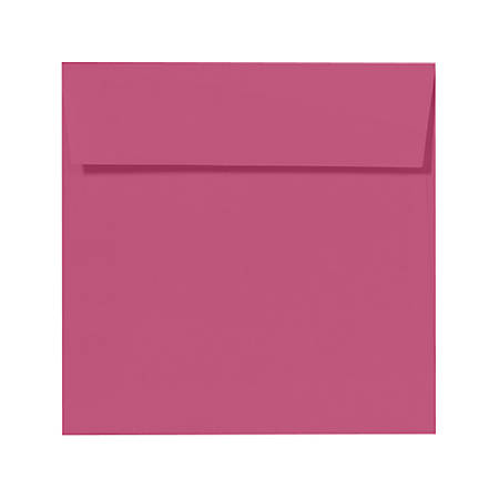 """LUX Square Envelopes With Peel & Press Closure, 6 1/2"""" x 6 1/2"""", Magenta, Pack Of 500"""