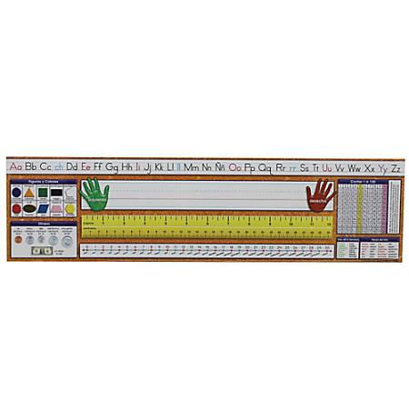 "North Star Teacher Resources Spanish Desk Plates, 19"" x 5"", Traditional Manuscript, Grades 1-8, 36 Plates Per Pack, Set Of 3 Packs"
