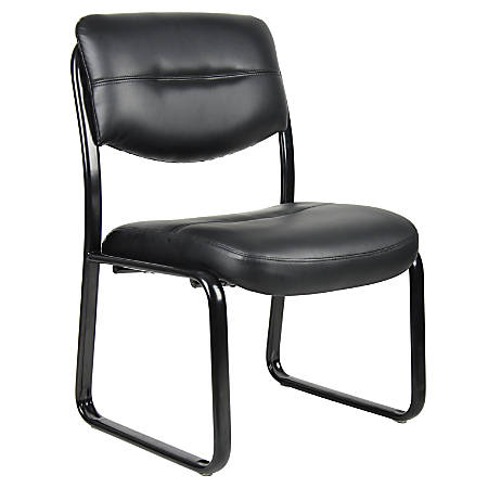 Boss LeatherPlus Guest Chair, Black