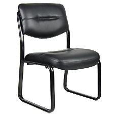 Boss LeatherPlus Guest Chair Black