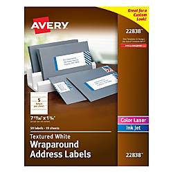 Avery Premium Address Labels 22838 Wraparound