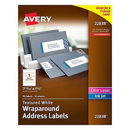 Avery Premium Address Labels 22838 Wraparound