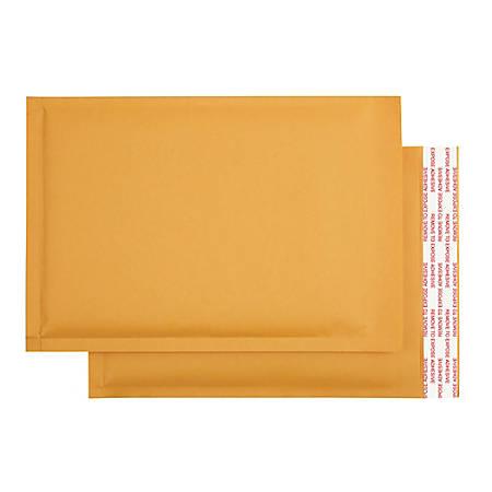 "Office Depot® Brand Self-Sealing Bubble Mailers, Size 0, 6"" x 9 1/8"", Box Of 250"