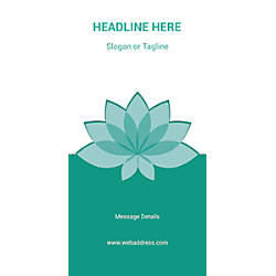 Custom Vertical Banner Teal Spa Flower
