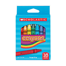 Scholastic Standard Crayons Assorted Colors Pack