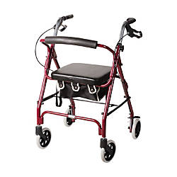 DMI Adjustable Aluminum Rollator With Seat